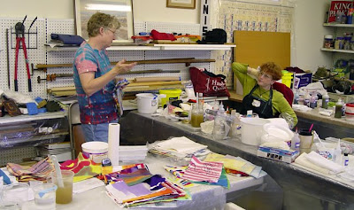 Ann Johnston teaching fabric dying and painting