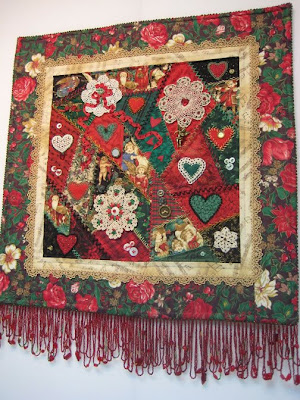 Christmas crazy quilt by Pat Eaton