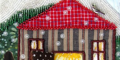 bead embroidery, bead journal project, Robin Atkins, December, Detail