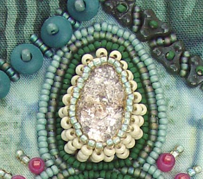 Zero Circle, bead journal project for March, Robin Atkins, Ganges R. rock