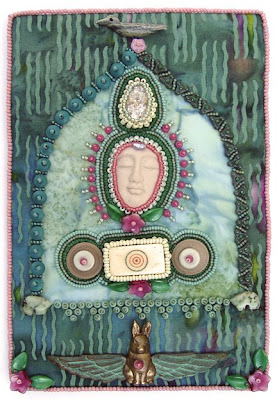 Zero Circle, bead journal project for March, Robin Atkins