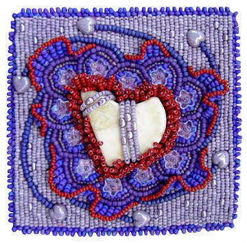 bead embroidery, bead journal project, Feb 08, Christy H
