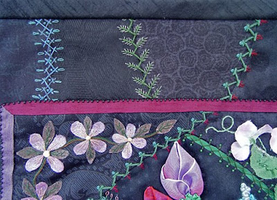 crazy quilt by Robin Atkins, detail