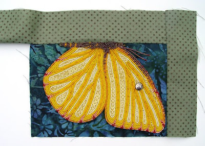 bead embroidery, adding fabric borders, by robin atkins