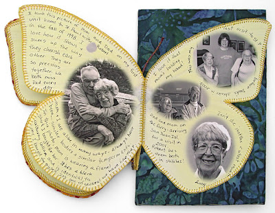 bead embroidery, bead journal project, mom's butterfly, by robin atkins