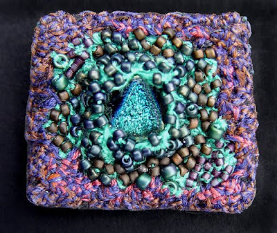 beaded brooch by Elaine Hartley