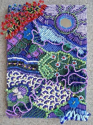 bead embroidery by Lisa Criswell, My Racing Thoughts