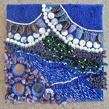 bead embroidery by Lisa Criswell, Tranquility