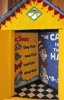 house that Dr. Seuss built, detail, beaded by Brenda Brousseau
