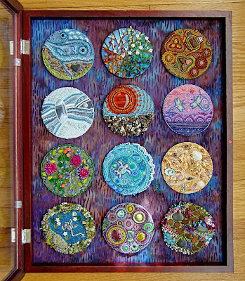 bead journal project pieces by Pam Ehlers Stec