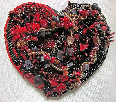 bead embroidery by Carmen, Angry
