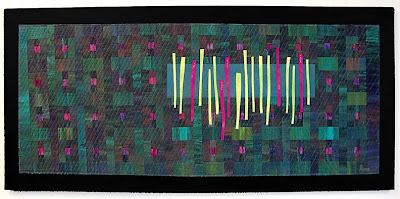 art quilt by Myrna Giesbrecht, Evolving Sampler