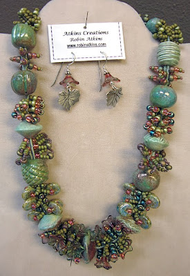 bead jewelry by Robin Atkins, finger-woven treasure necklace