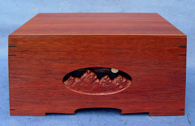 wooden box, handmade by Maurice Sewelson