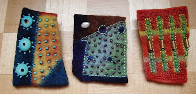 Chad Alice Hagen, hand-made felt pins