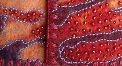 Chad Alice Hagen, hand-made wrap-style book, detail