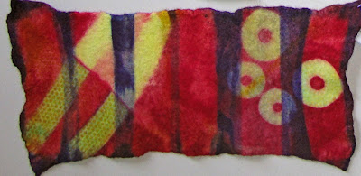Robin Atkins, felt used for hand-mand book, wrap style