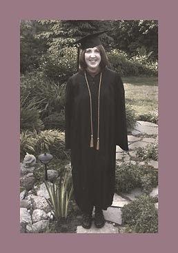 Margaret graduating with BA, print-ready image