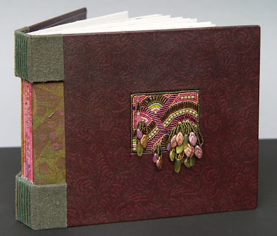 bead embroidery handmade book by Robin Atkins, Earth Journal
