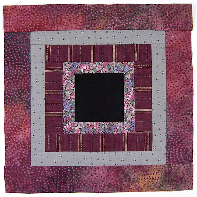 God's Eye Quilt, block 2, by Robin Atkins