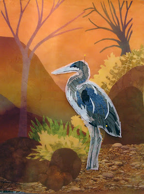 Karin Franzen workshop, heron by student