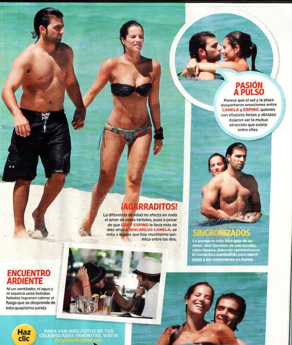 Gaby Espino y Jencarlos Canela: Romance en la Playa (Scans)