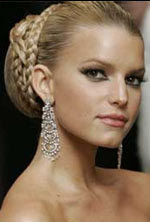 jessica simpson updo hairstyles