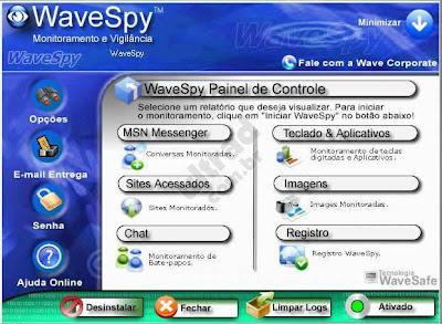 wavespy espiar computador com programa instalado