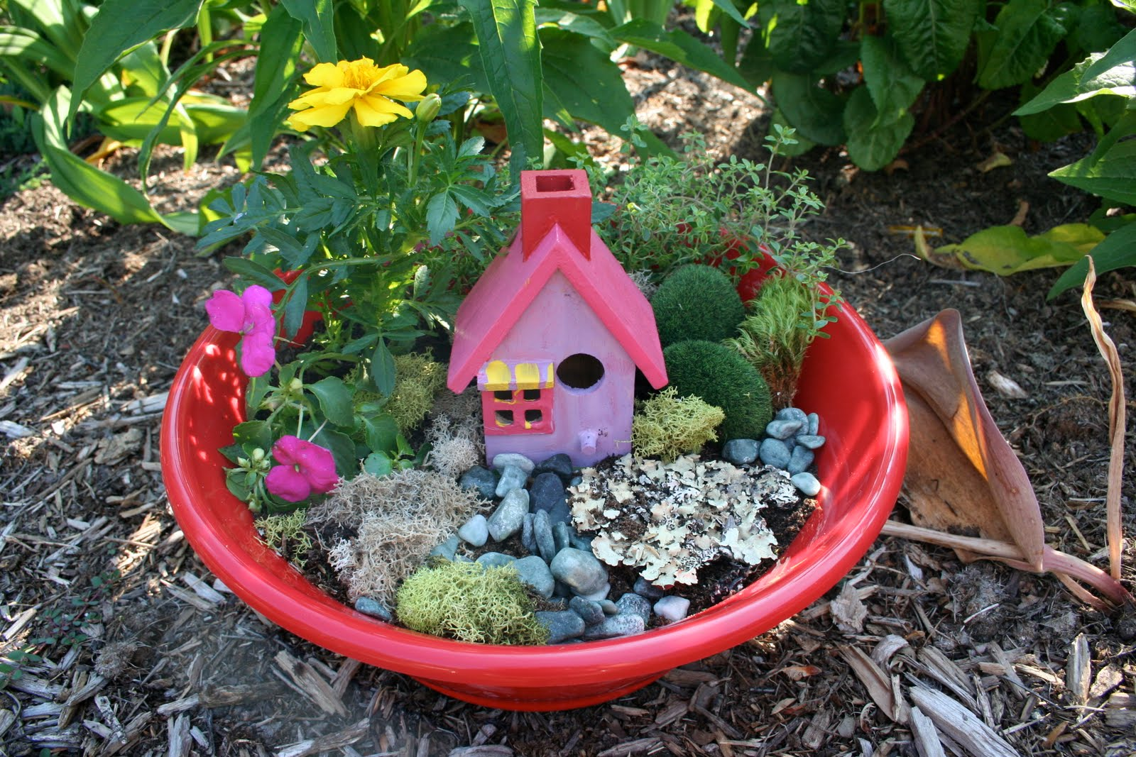 Pink and Green Mama End Of The Year Teacher Gift Fairy Garden