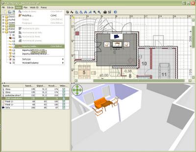 Import elementów wyposażenia wnętrz - Sweet Home 3D