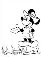 Planse fise de colorat cu Mickey Mouse