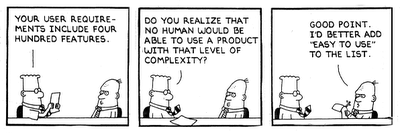 Dilbert- user requirements