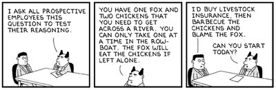 Dilbert - interview logic question