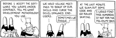 Dilbert - development methodology