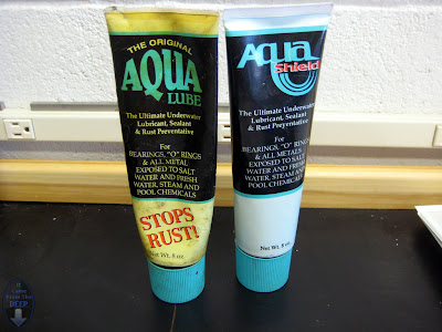 Unfortunately it does not stop the rust from discoloring the tube