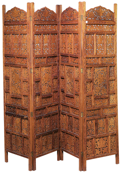Wooden Dressing Screen ~ Bombayjewel room divider wood screen shoji egg swing