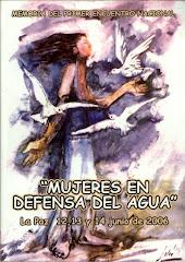 Memoria del Primer Encuentro Nacional de Mujeres en Defensa del agua