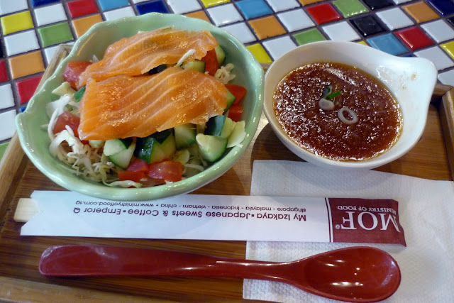 MOF, Japanese Salmon Sashimi Salad