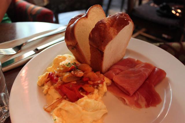 Breakfast, Spanish Styled Eggs, Prosciutto