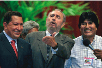 Chavez, Castro and Morales