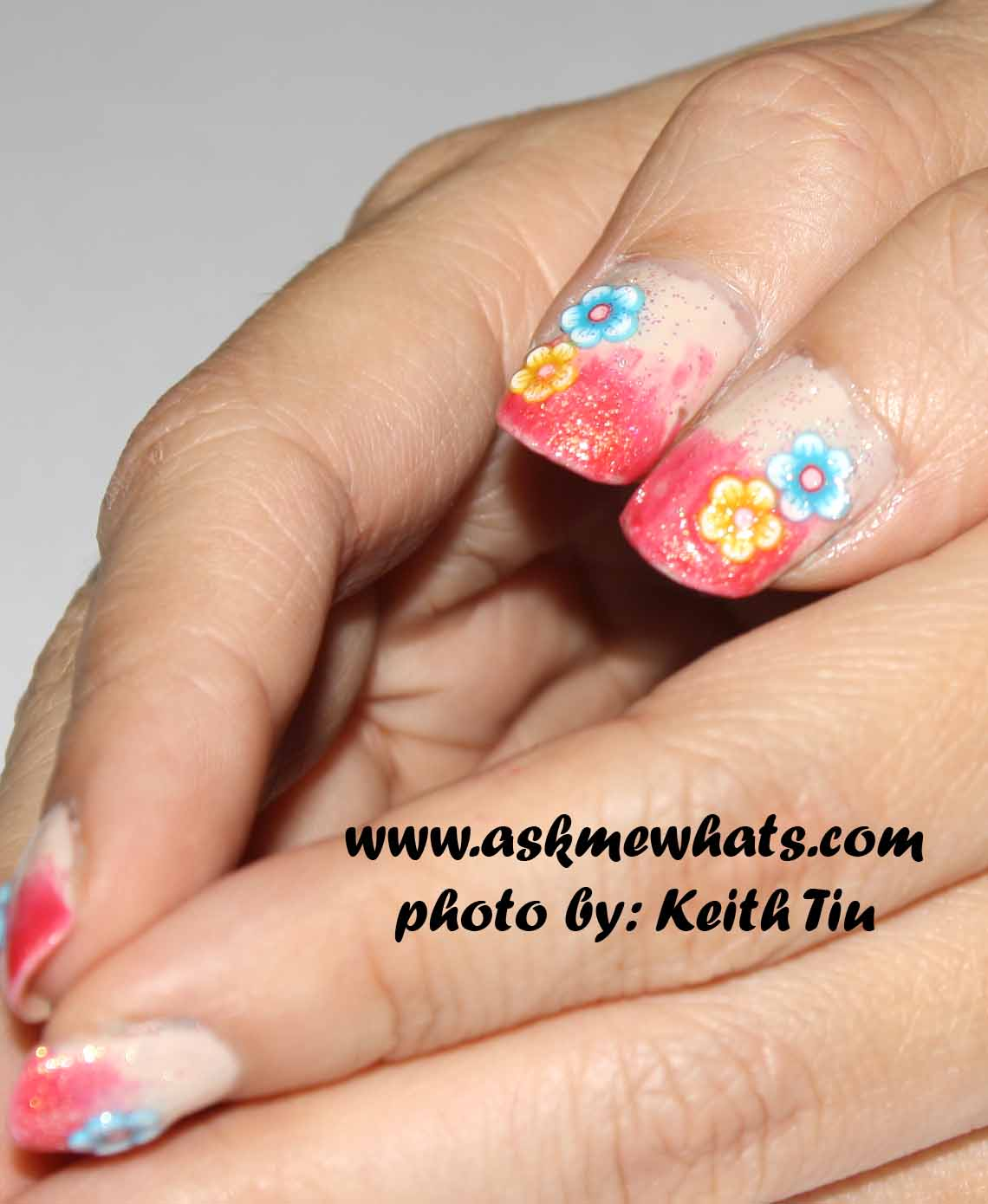 Askmewhats top beauty blogger philippines skincare makeup since i was in a bit of hurry to create this nail art ive decided to stick on the flowers instead of drawing them i hope you like it prinsesfo Gallery