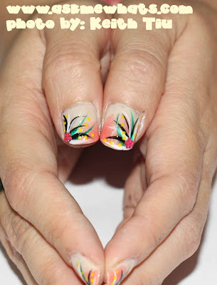 You can get a nail design which matches your Halloween outfit or which