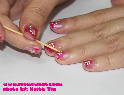 nail art rhinestones. Top the nail art with any