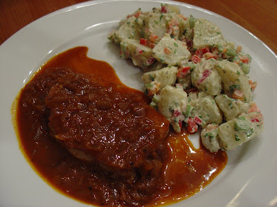 Taste of Home Cooking: Pork Chops in a Sweet Chili Sauce with Creamy ...