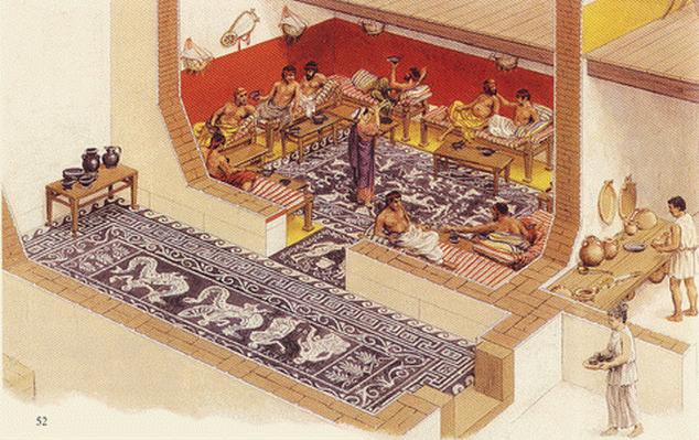 Diseno de interiores mueble antiguo Casas griegas antiguas