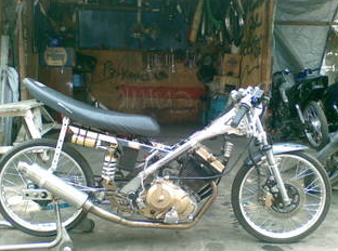 Satria Fu Full Drag Modification