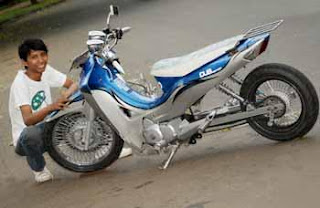 Honda Karisma 2002 wheel and rims modification