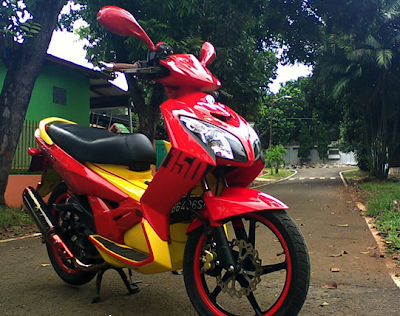 YAMAHA NOUVO Red Color Modification