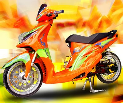 Yamaha Mio Cool Airbrush Modification