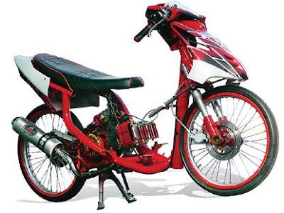 Modifikasi Full Racing Yamaha Mio 2007